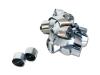 Zilveren metallic streamers