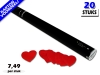 Laagste prijs! Bestel 80cm confetti shooters met rode hartjes brandvrije papieren confetti zeer voordelig online bij Partyvuurwerk.