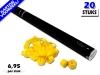 Laagste prijs! Bestel 80cm streamer shooters met gele brandvrije streamers zeer voordelig online bij Partyvuurwerk.