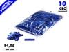 Blauw metallic slowfall papieren confetti bestel je voordelig in bulkverpakking bij Partyvuurwerk