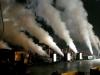 Grote en indrukwekkende CO2 effecten op een podium