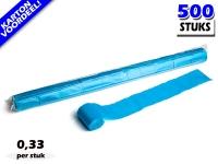 Lichtblauwe werplinten voor het creëren van tifo en sfeer bij voetbalwedstrijden en evenementen. Kartonvoordeel per 500 stuks op Partyvuurwerk