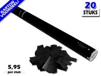 Bestel de goedkoopste 80cm confetti shooters met zwarte brandvrije papieren confetti bij Partyvuurwerk. Eenvoudig online bestellen en snel geleverd!
