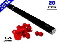 Laagste prijs! Bestel 80cm streamer shooters met rode brandvrije streamers zeer voordelig online bij Partyvuurwerk.