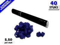 Laagste prijs! Bestel 40cm streamer shooters met donkerblauwe brandvrije streamers zeer voordelig online bij Partyvuurwerk.