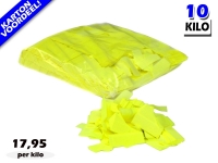 Gele UV Fluo slowfall papieren confetti bestel je voordelig in bulkverpakking bij Partyvuurwerk