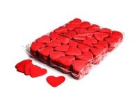 Brandvrije papieren rode hartjes confetti per kilogram verpakt