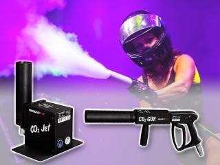 Op Partyvuurwerk.nl huur je eenvoudig een CO2 Gun of CO2 Jet inclusief toebehoren en CO2 gasflessen