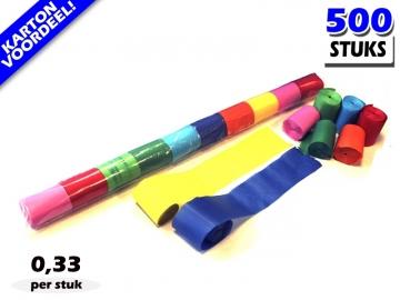 Multicolour werplinten voor het creëren van tifo en sfeer bij voetbalwedstrijden en evenementen. Kartonvoordeel per 500 stuks op Partyvuurwerk