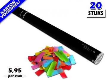 Bestel de goedkoopste 80cm confetti shooters met multicolour brandvrije papieren confetti bij Partyvuurwerk. Eenvoudig online bestellen en snel geleverd!