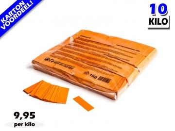 Oranje slowfall papieren confetti bestel je voordelig in bulkverpakking bij Partyvuurwerk