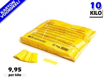 Gele slowfall papieren confetti bestel je voordelig in bulkverpakking bij Partyvuurwerk