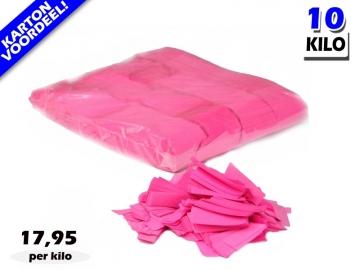 Roze UV Fluo slowfall papieren confetti bestel je voordelig in bulkverpakking bij Partyvuurwerk