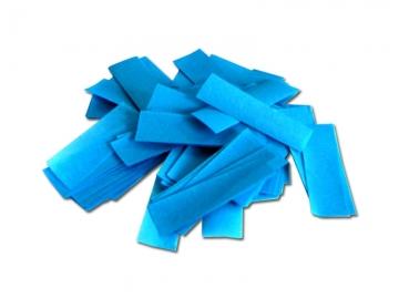 Brandvrije papieren slowfall confetti in de kleur lichtblauw