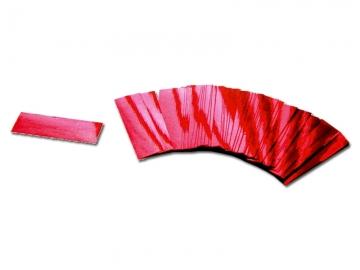 Brandvrije confetti in de kleur metallic rood