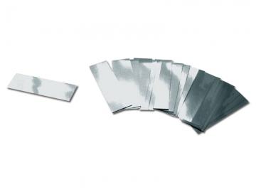 Brandvrije metallic zilveren confetti