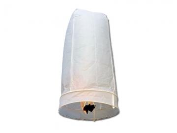 Wensballon van 75 centimeter hoog in de kleur wit voor feestelijke sfeer in het donker