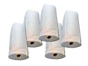 Met deze 5 extra grote witte wensballonnen tover je in een handomdraai prachtige lichteffecten in de donkere nacht