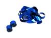 Blauwe metallic streamers