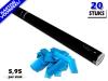Bestel de goedkoopste 80cm confetti shooters met lichtblauwe brandvrije papieren confetti bij Partyvuurwerk. Eenvoudig online bestellen en snel geleverd!