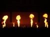 Vlameffecten op een podium door middel van een Stage Flame vlammenwerper