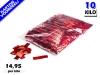 Rood metallic slowfall papieren confetti bestel je voordelig in bulkverpakking bij Partyvuurwerk