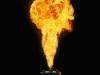 Gasvlammen tot 6 meter hoog op podia tijdens evenementen met een Stage Flame vlammenwerper