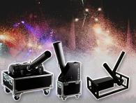 Effectmachines en kanonnen voor het afvuren confetti en streamers zijn voordelig te huur bij partyvuurwerk.nl