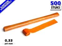 Oranje werplinten voor het creëren van tifo en sfeer bij voetbalwedstrijden en evenementen. Kartonvoordeel per 500 stuks op Partyvuurwerk
