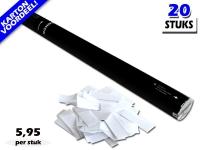 Bestel de goedkoopste 80cm confetti shooters met witte brandvrije confetti bij Partyvuurwerk. Eenvoudig online bestellen en snel geleverd!