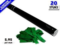 Bestel de goedkoopste 80cm confetti shooters met donkergroene brandvrije papieren confetti bij Partyvuurwerk. Eenvoudig online bestellen en snel geleverd!
