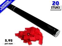 Bestel de goedkoopste 80cm confetti shooters met rode brandvrije papieren confetti bij Partyvuurwerk. Eenvoudig online bestellen en snel geleverd!