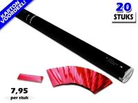 Laagste prijs! Bestel 80cm confetti shooters met rood metallic brandvrije confetti zeer voordelig online bij Partyvuurwerk.