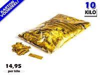 Goud metallic slowfall papieren confetti bestel je voordelig in bulkverpakking bij Partyvuurwerk