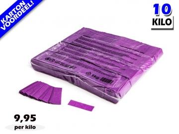 Paarse slowfall papieren confetti bestel je voordelig in bulkverpakking bij Partyvuurwerk